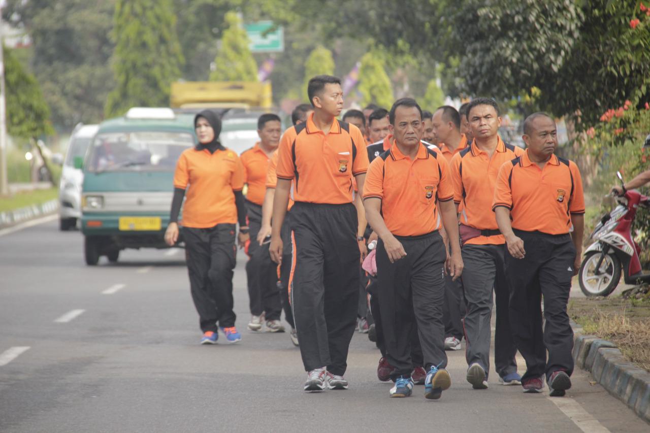 Jumat Sehat, Polda Bengkulu Gelar Olahraga Bersama