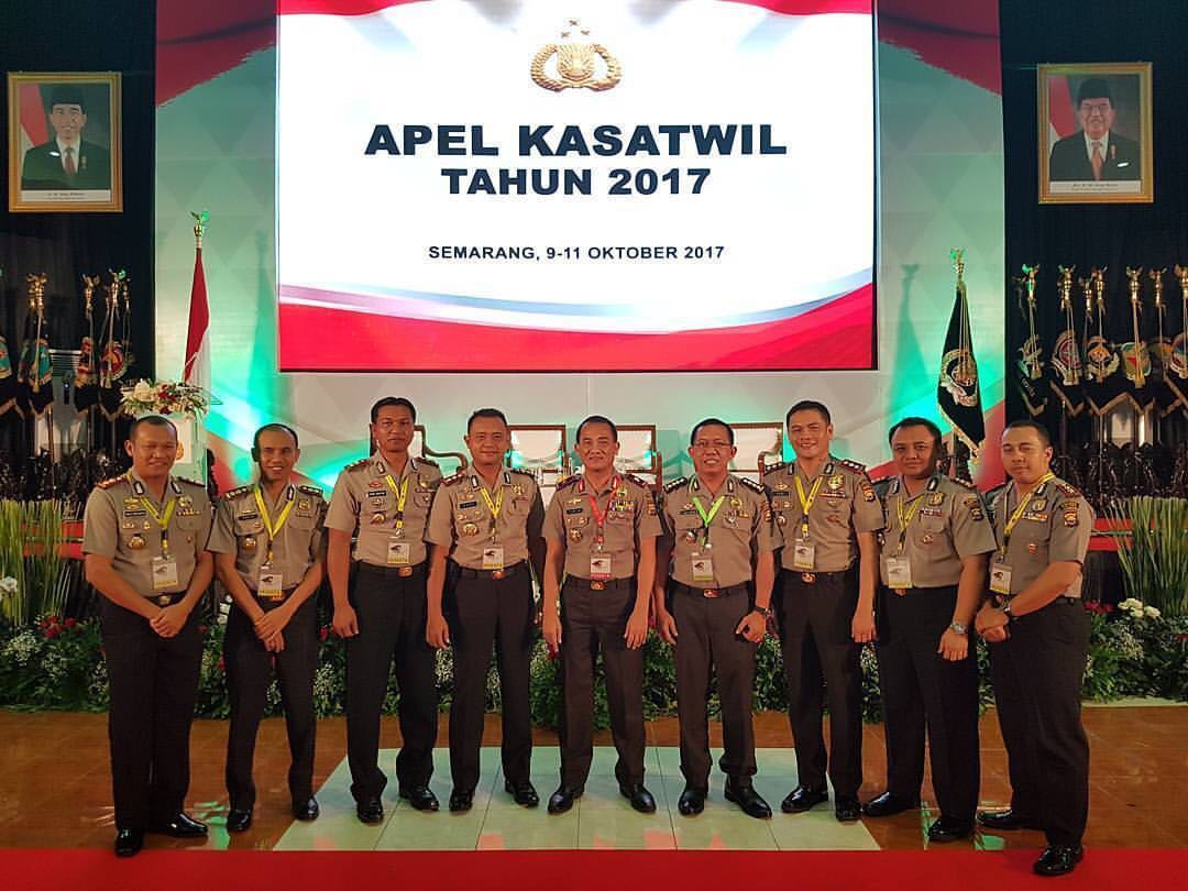 Kapolda Bengkulu, Karo Ops dan Kapolres Jajaran Ikuti Apel Kasatwil Polri