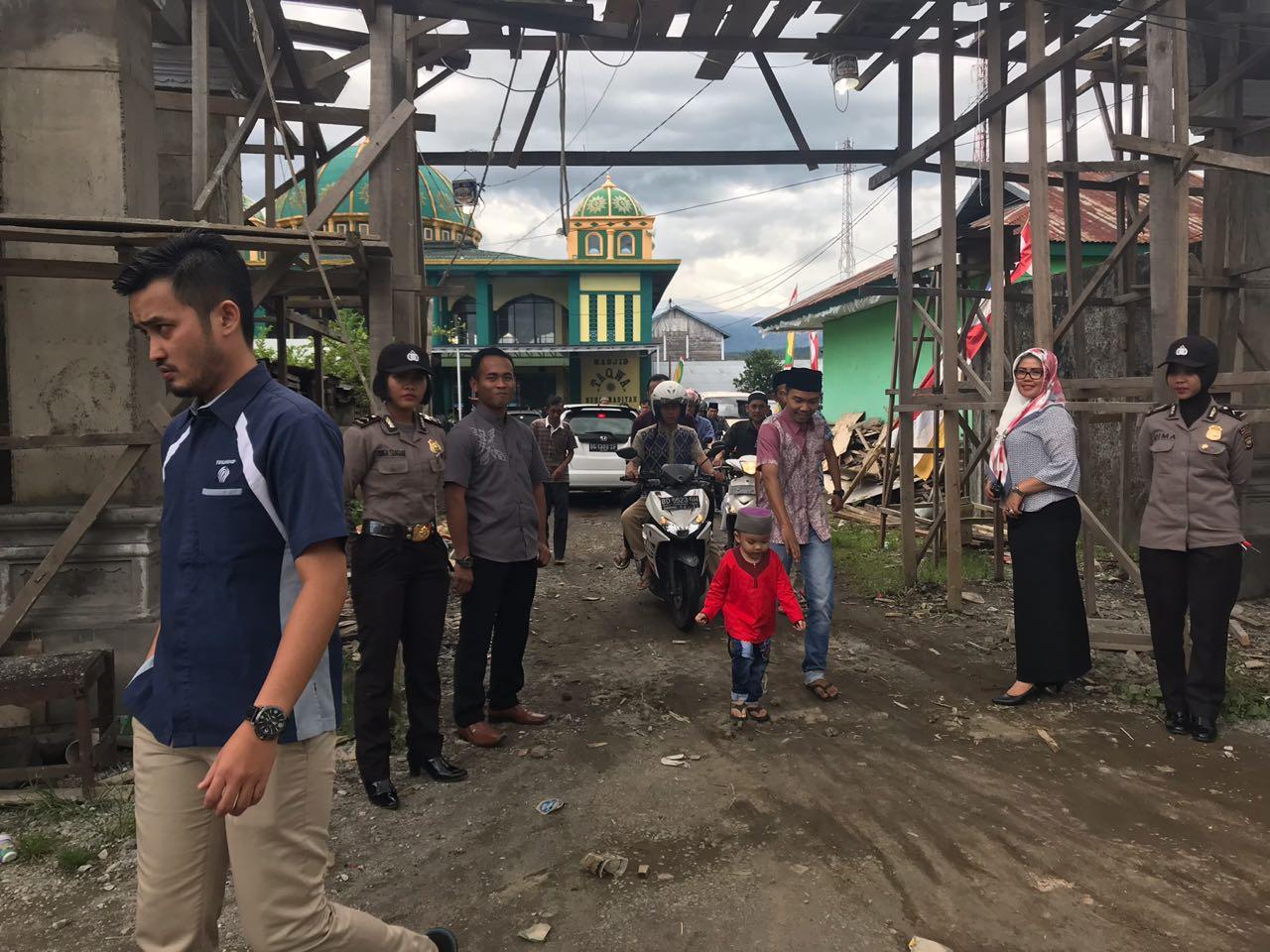 Pengamanan Shalat Jumat, Polres Kepahiang Turunkan Polwan