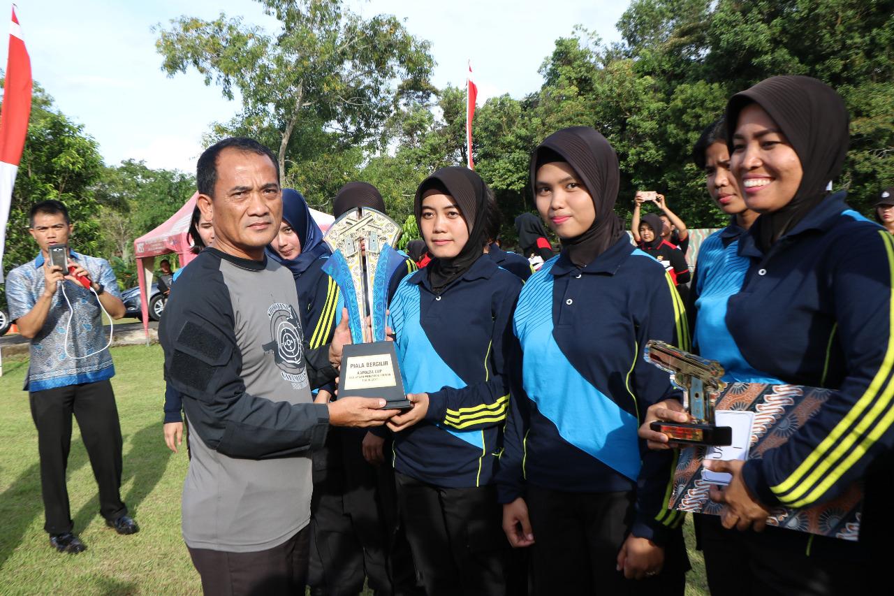 Kejuaraan Menembak Polwan, Tim Polda Bengkulu Sebagai Pemenang