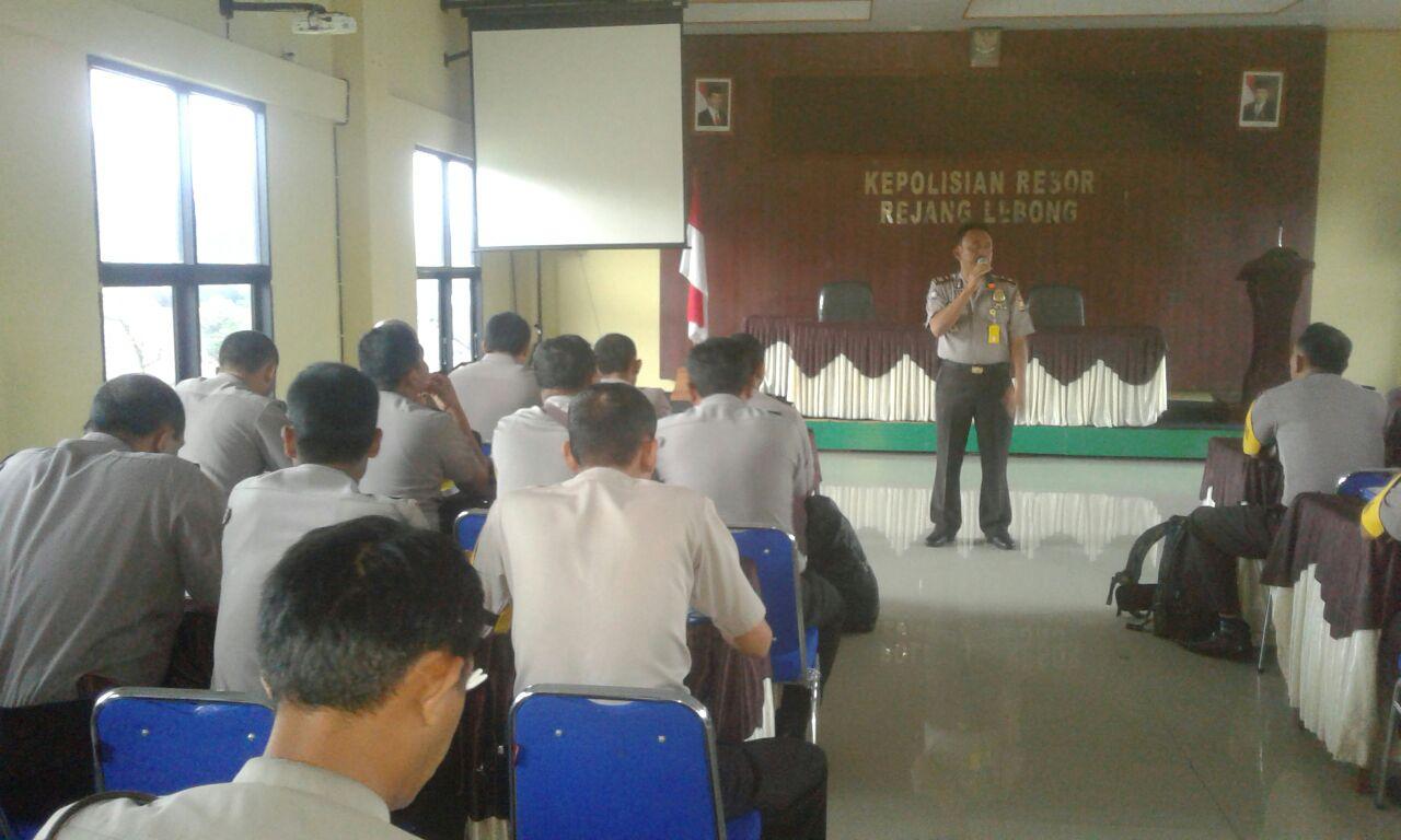 Sat Binmas Polres Rejang Lebong Anev Pelaksanaan Tugas Bhabinkamtibmas