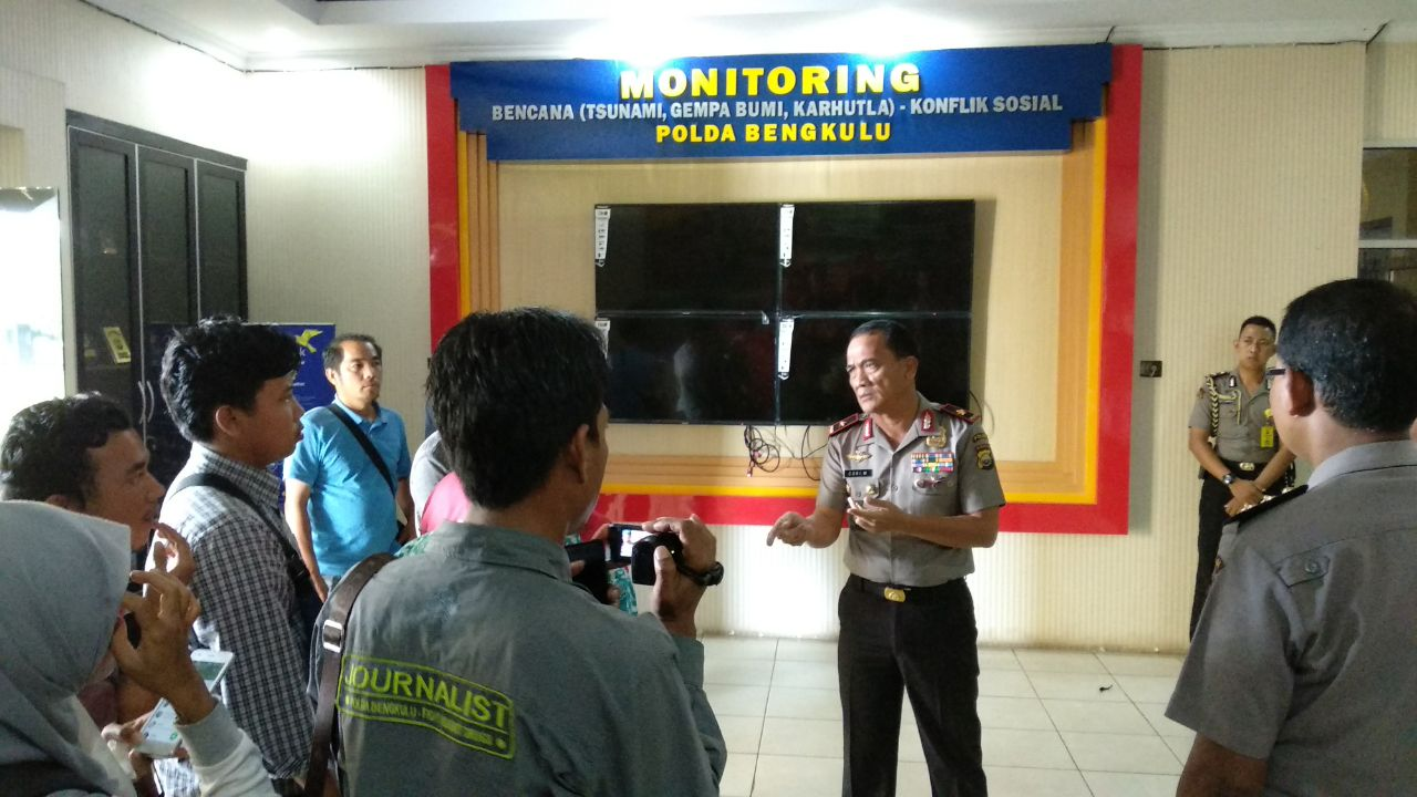 Posko Monitoring Siaga Bencana Polda Bengkulu