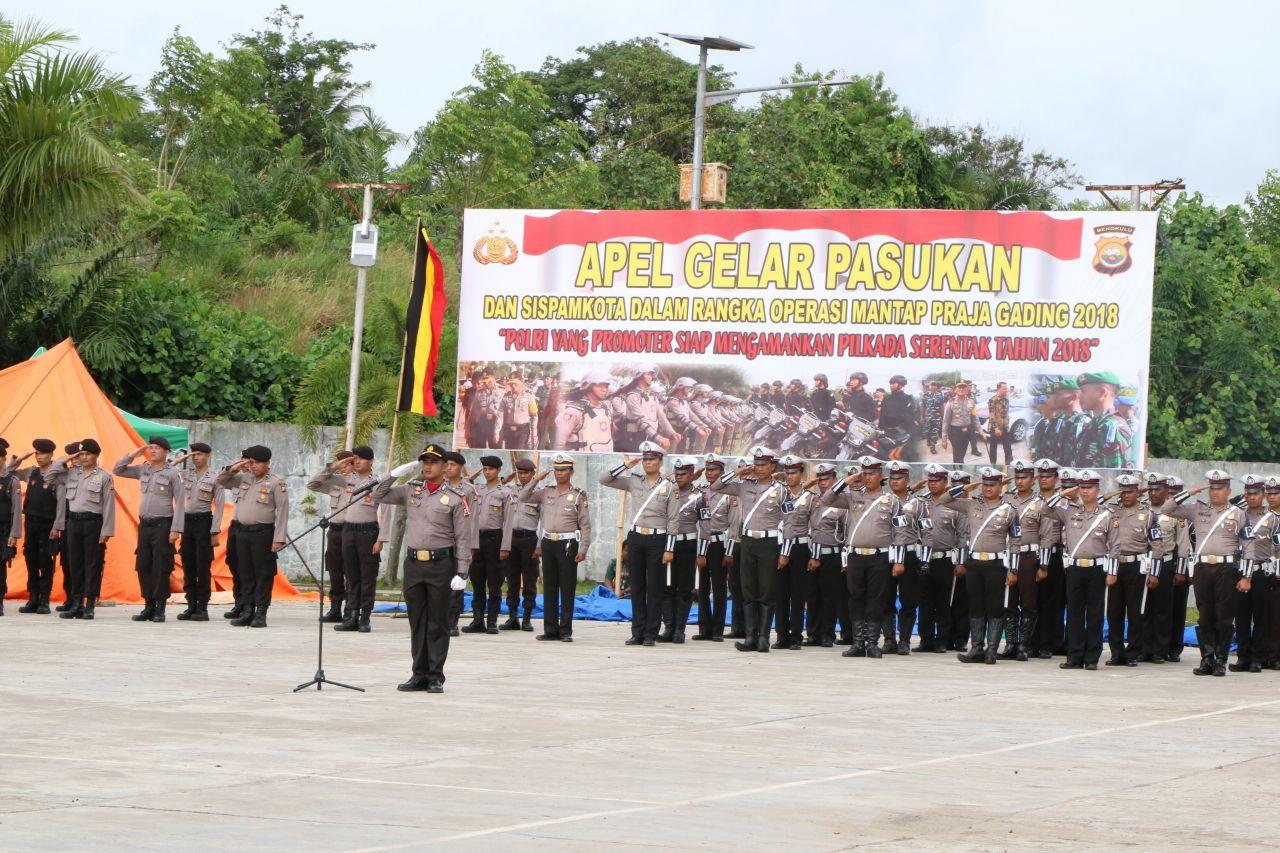 Apel Gelar Pasukan dan Sispam Kota Polres Bengkulu