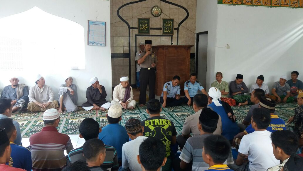 Pembinaan Rohani, Sat Binmas Polres Bengkulu Selatan Sambangi Lapas Kelas IIB Manna