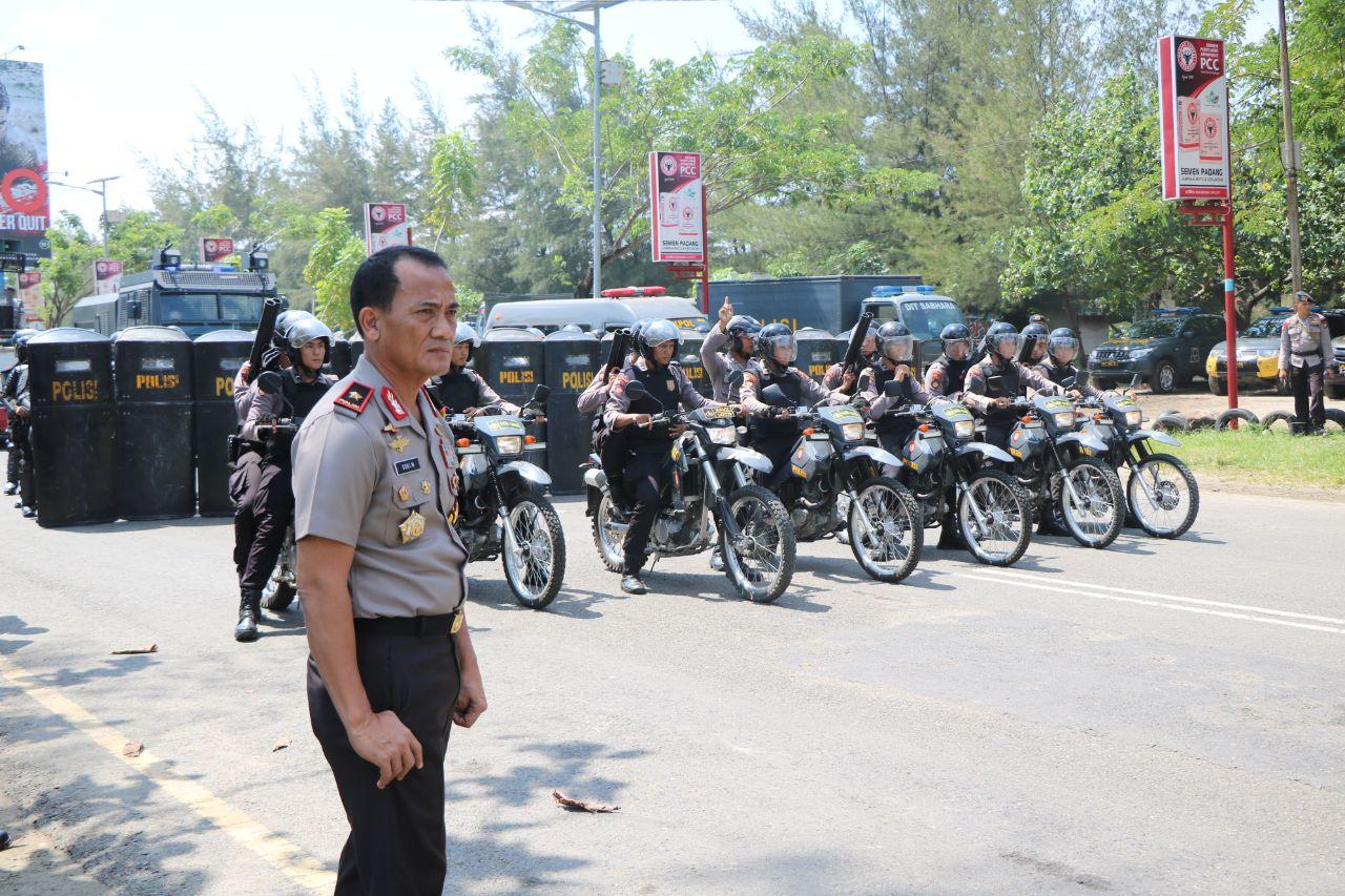 Turun Langsung, Kapolda Bengkulu Pantau Gladi Sispamkota Sambut Pilwakot Bengkulu