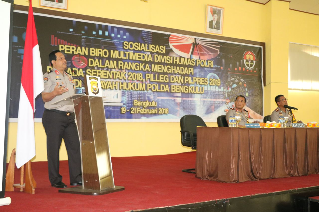 Dipimpin Jenderal Bintang Satu, Tim Mabes Polri Sosialisasikan Pengamanan Pilwakot Bengkulu