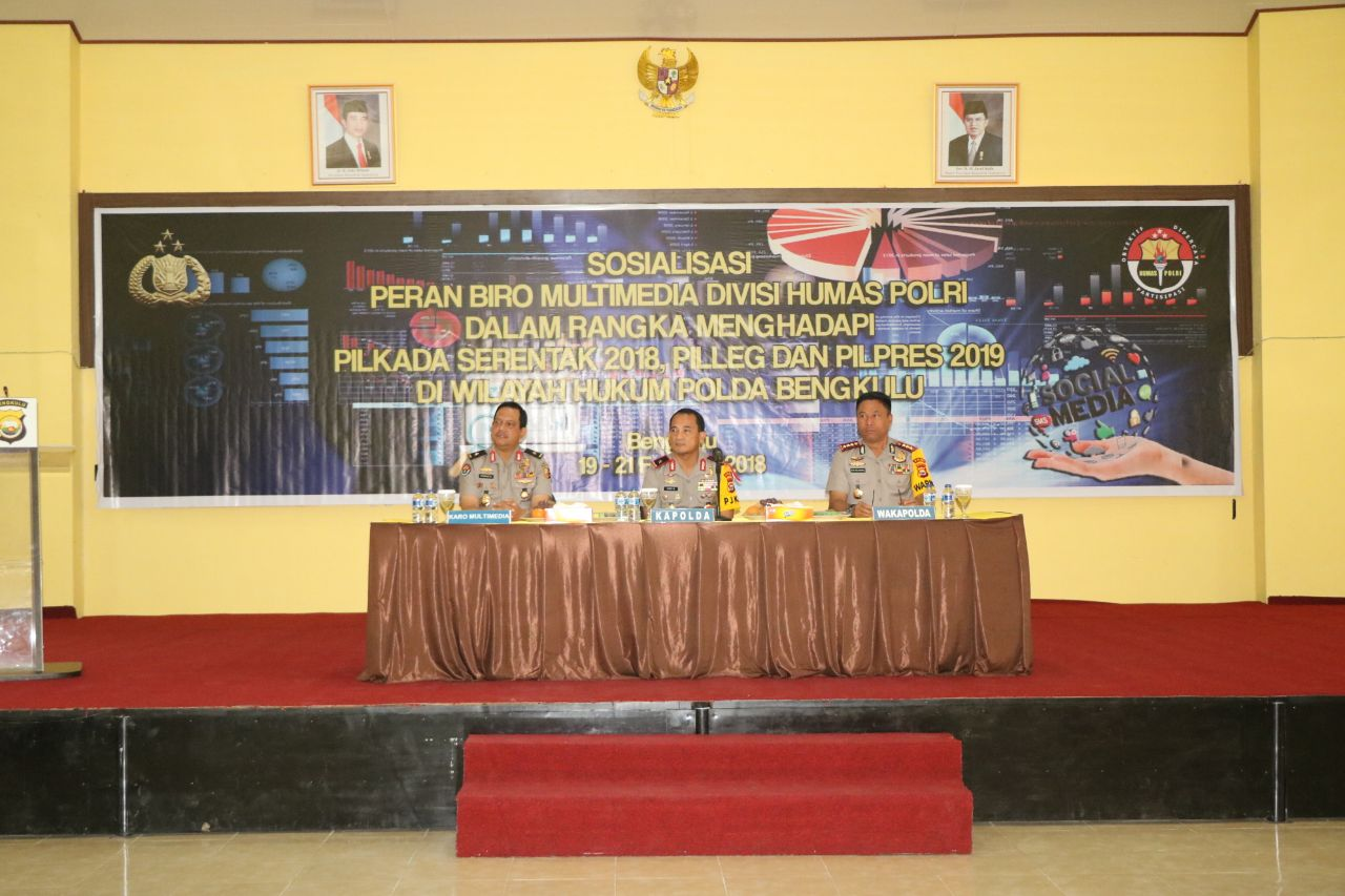 Kunjungi Polda Bengkulu, Biro Multimedia Div Humas Mabes Polri Gelar Sosialisasi Pengamanan Pilkada