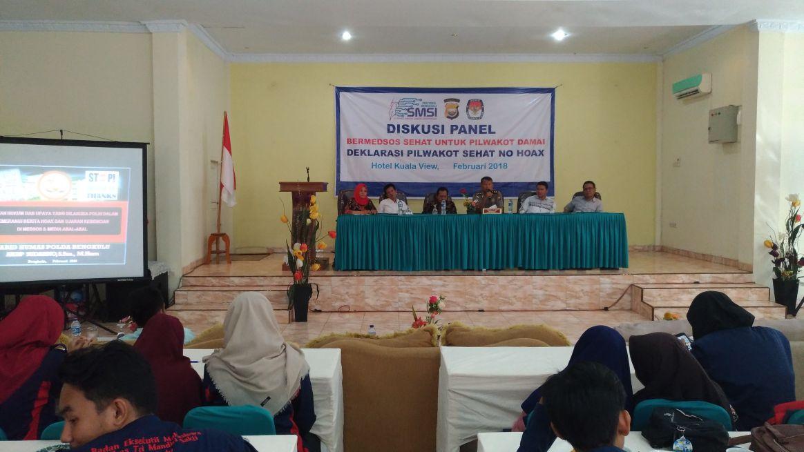 Pilwakot Bengkulu, Kabid Humas Hadiri Diskusi Panel Bersama SMSI dan KPU Kota