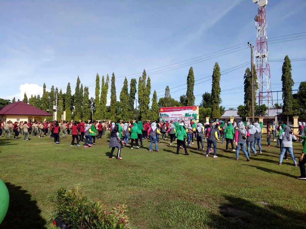 Tingkatkan Sinergi, Polres BU Dan TNI Olahraga Bersama
