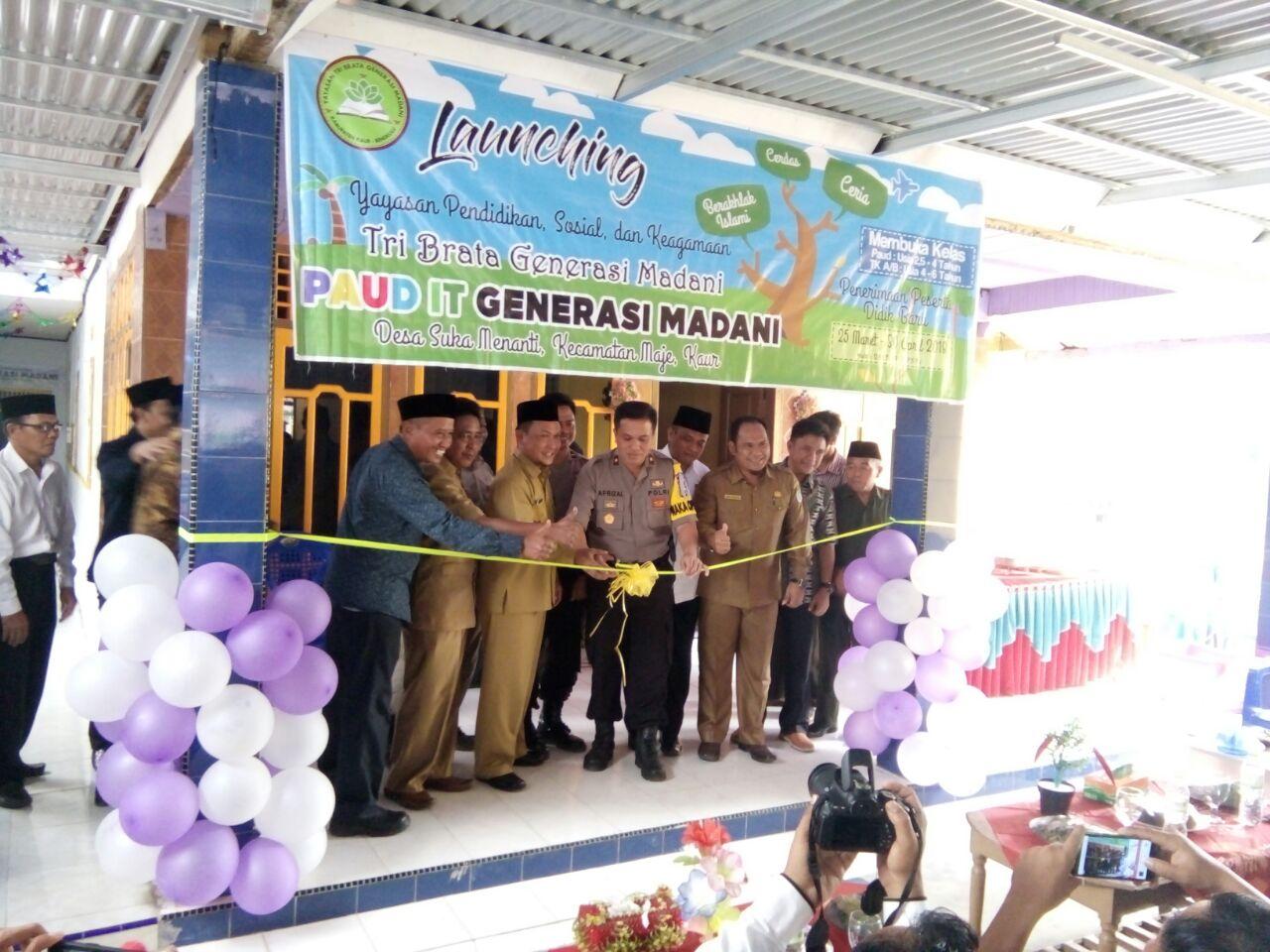 Peresmian Yayasan Tri Brata Generasi Madani dan Launching Paud IT Generasi Madani Polres Kaur