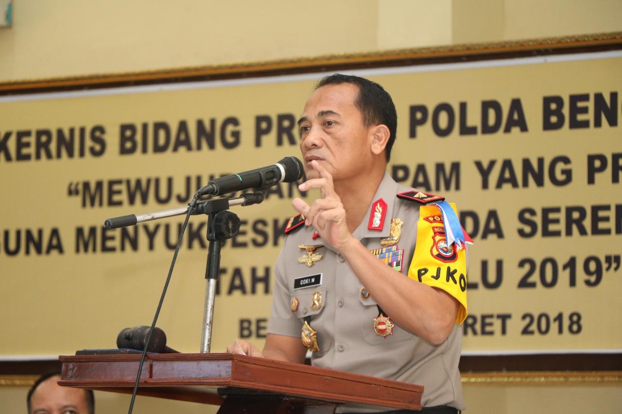 Kawal Pesta Demokrasi, Kapolda Bengkulu Perintahkan Propam Harus Dinamis Jaga Netralitas Polri