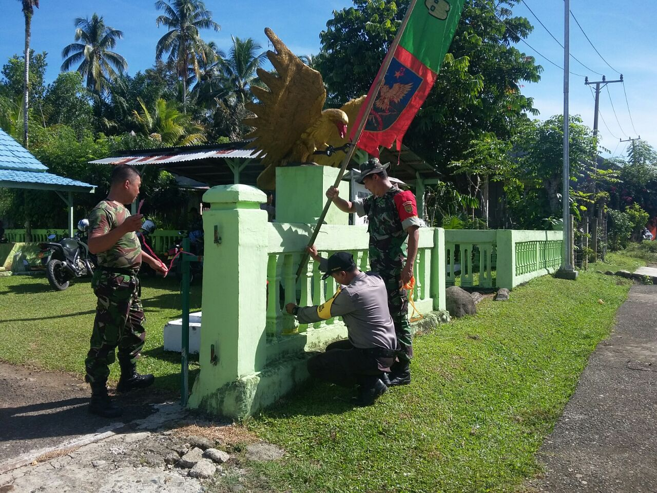 Sambang dan Silaturahmi, Polsek Kaur Utara Tingkatkan Sinergitas TNI/POLRI,