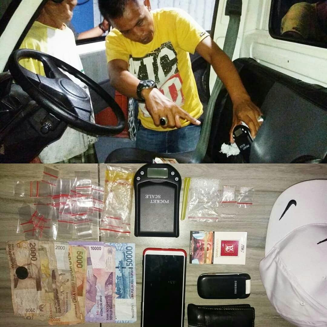 Sembunyikan narkoba di dalam jok mobil, Warga Muara Bangkahulu ditangkap Polisi.