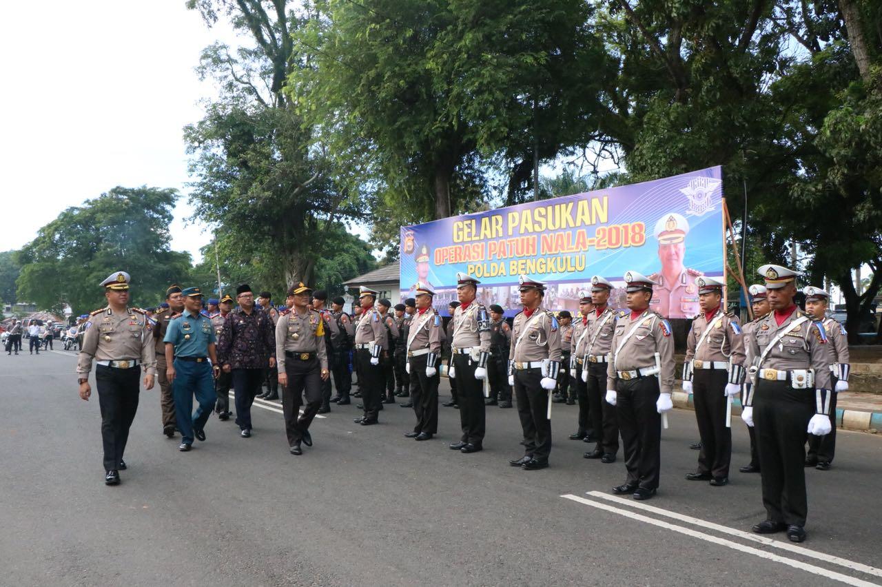 Kapolda Bengkulu Pimpin Gelar Pasukan Ops Patuh Nala 2018