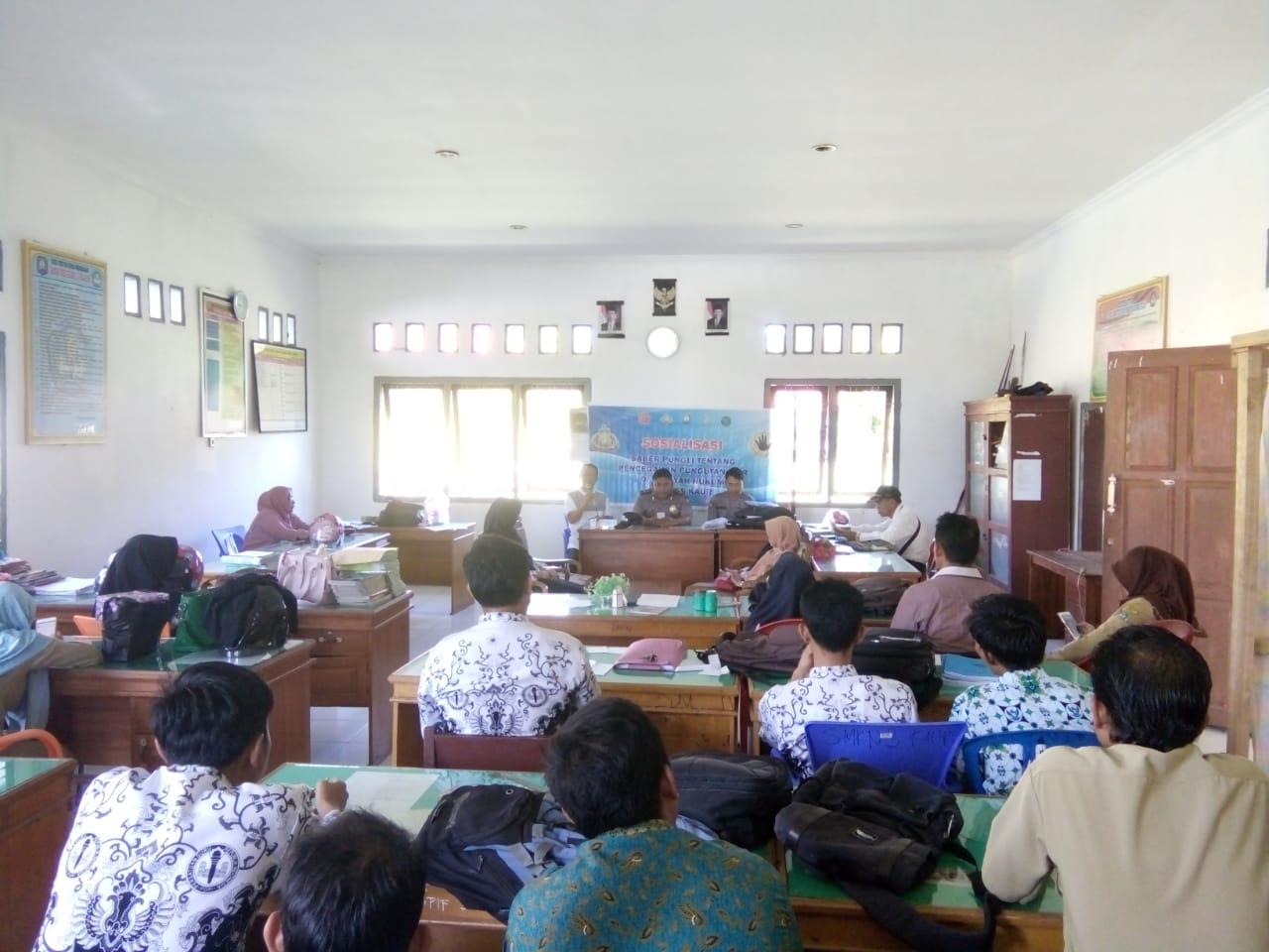 Cegah Pungli, Polsek Kaur Utara Gelar Sosialisasi