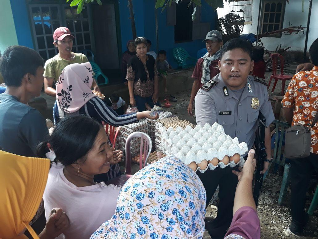 Polsek Kaur Utara Lakukan Pengamanan Pasar Murah di Padang Guci Hilir