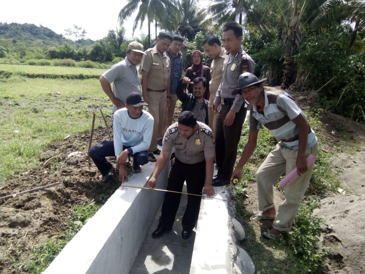 Pemeriksaan Bersama Bangunan Siring Pasang Desa Pulau Panggung