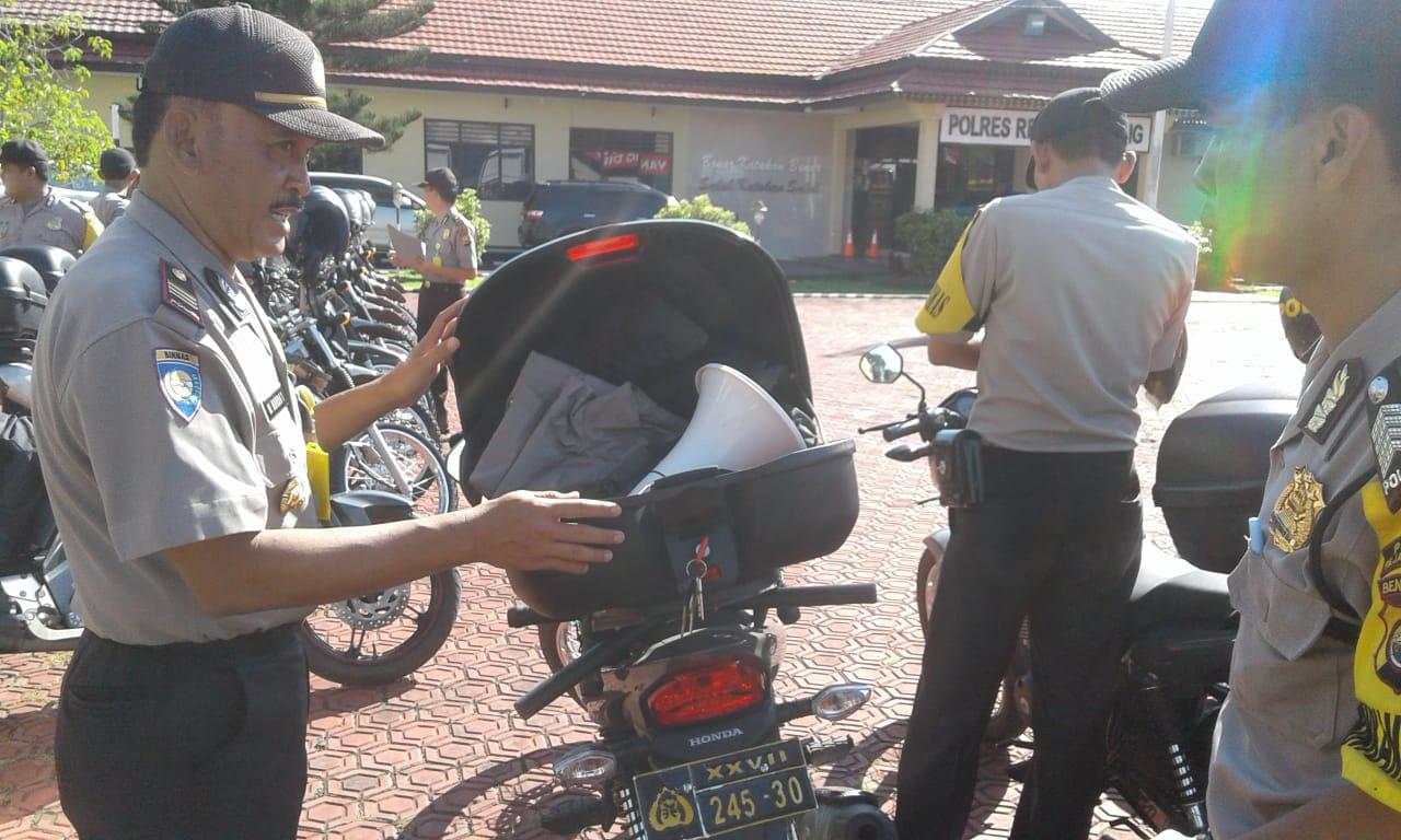 Pemeriksaan Kendaraan Dinas Bhabinkamtibmas Polres Rejang Lebong