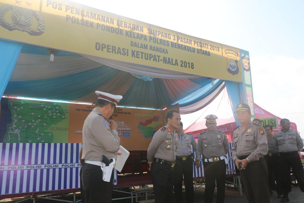 Ops Ketupat Nala,Kapolda Bengkulu Cek Pospam