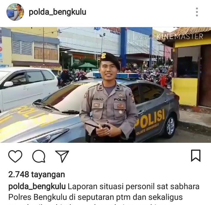 Polisi Zaman Now, Polda Bengkulu dan Jajaran Laporkan Informasi Mudik Via Medsos