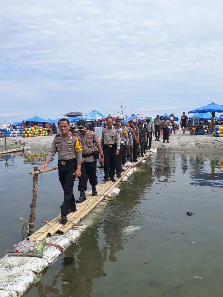 Kapolda Pantau Objek Wisata Pantai Jakat