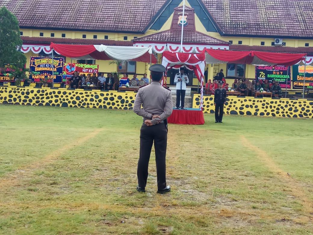 Bupati Pimpin HUT Bhayangkara di Polres Lebong