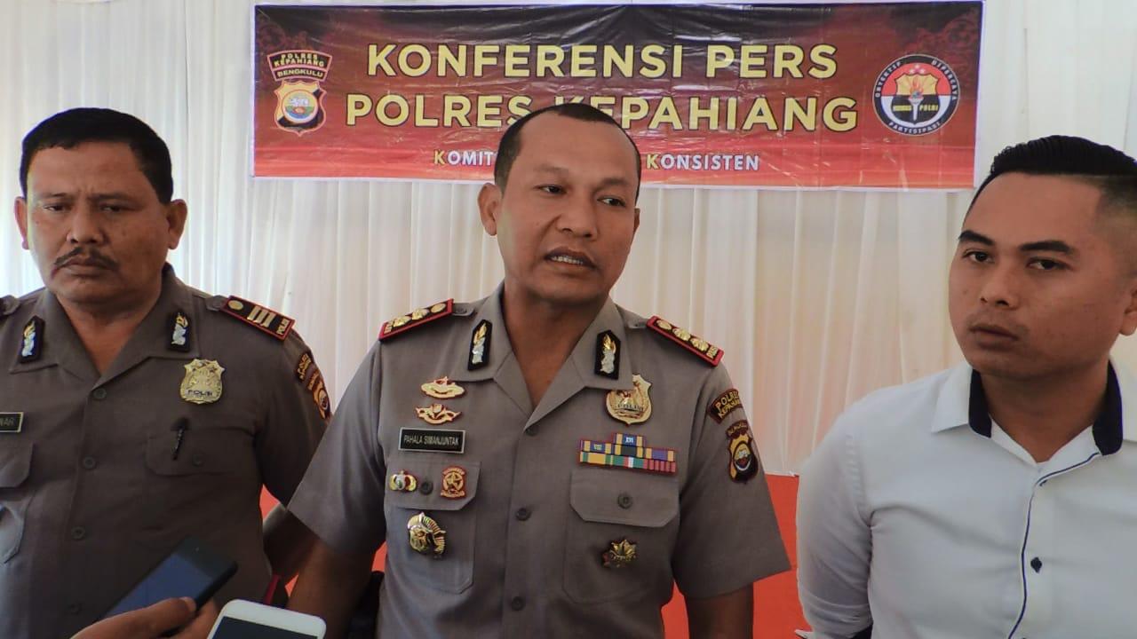 Kurang dari 1 Jam, Polres Kepahiang Ungkap Kasus Curanmor Tiga Pelaku Ditangkap