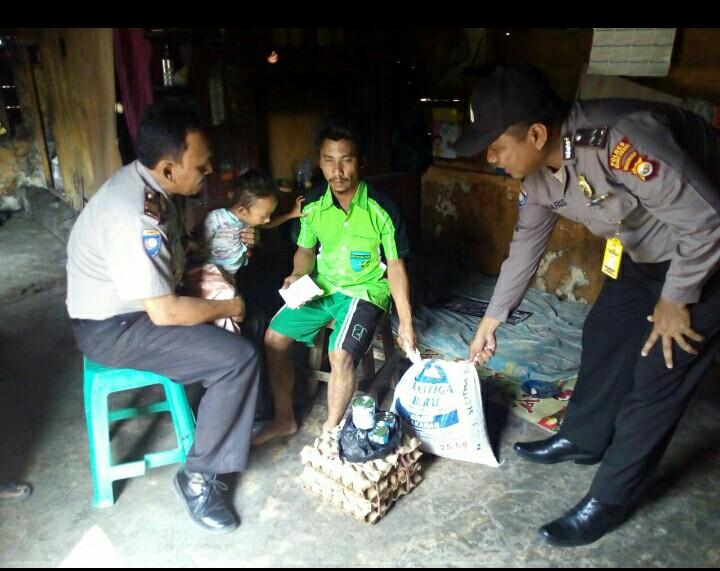 Sat Binmas Polres Rejang Lebong Sambangi Anak Gizi Buruk