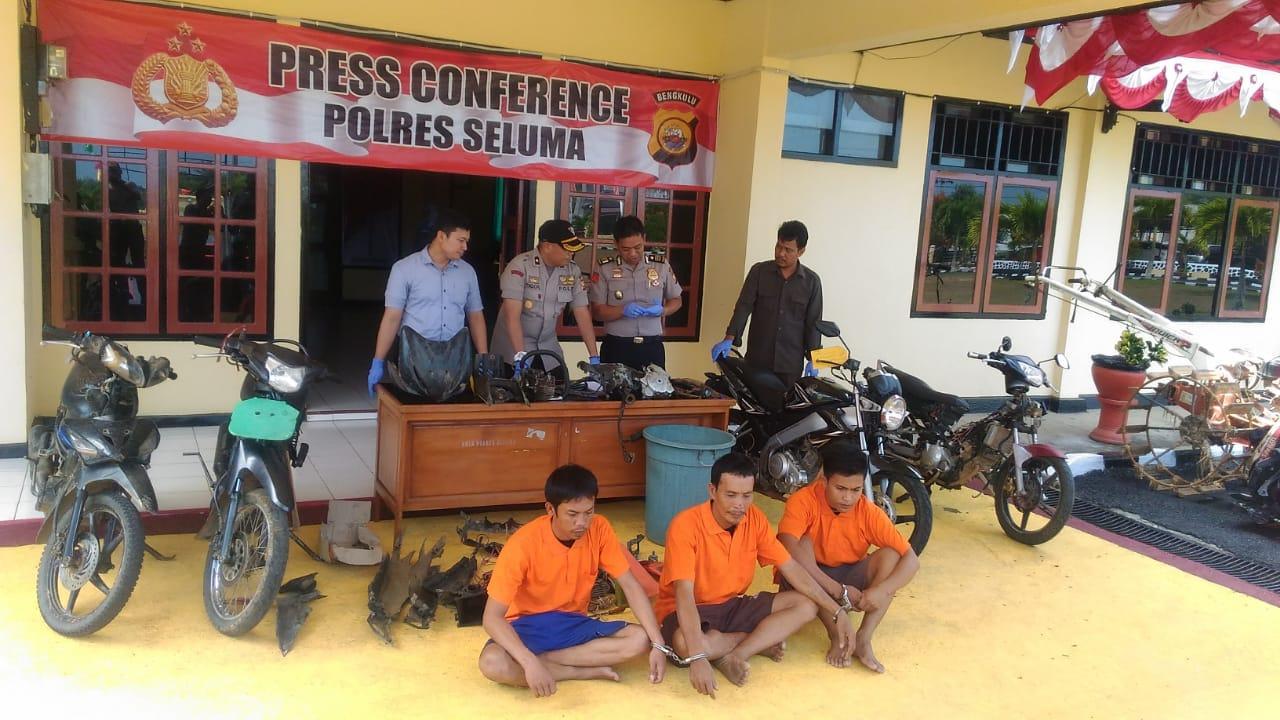 Polres Seluma Tangkap 3 Pelaku Tindak Kejahatan Jalanan