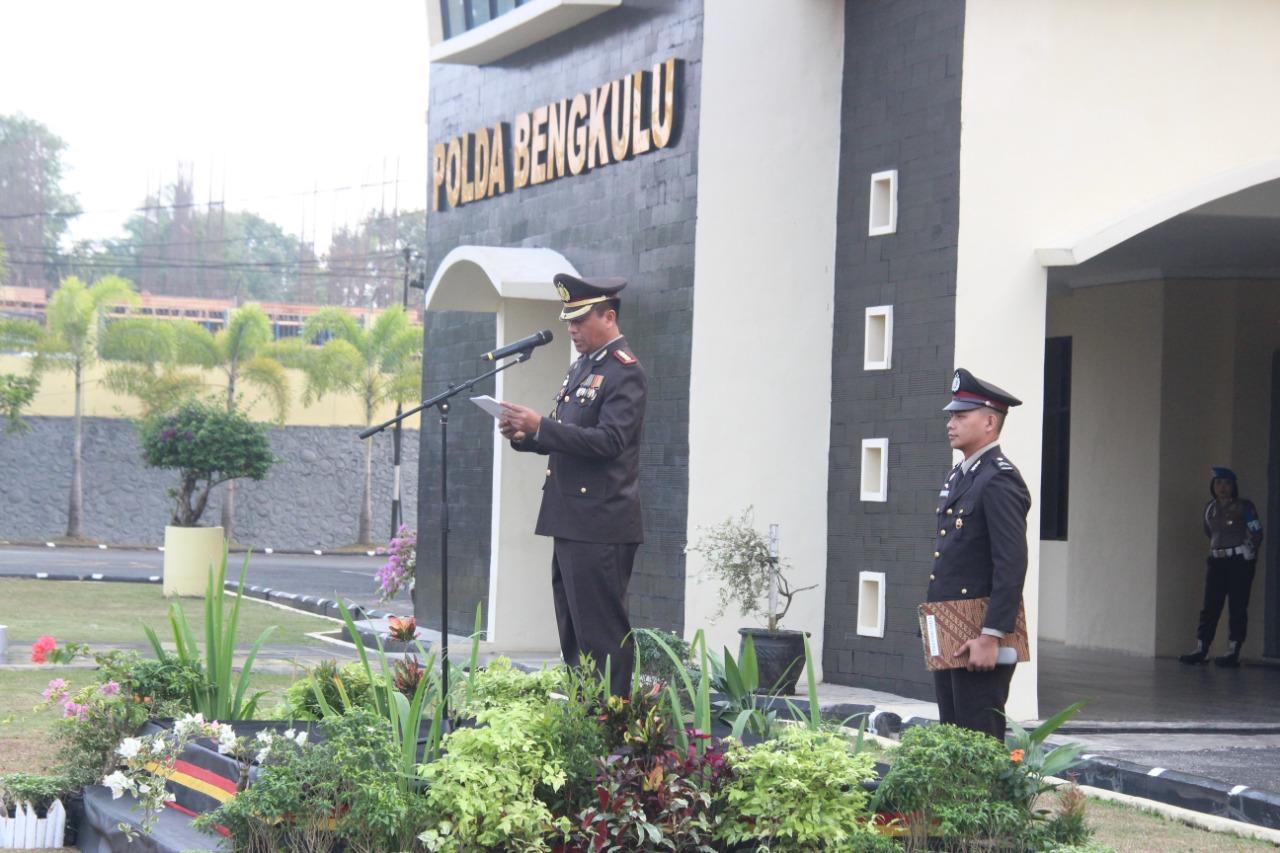 Wakapolda Bengkulu Pimpin Upacara HUT RI Ke – 73