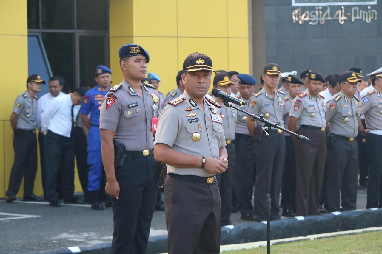 Pimpin Apel Pagi, Wakapolda Bengkulu Ingatkan Peningkatan Pelayanan Kepolisian