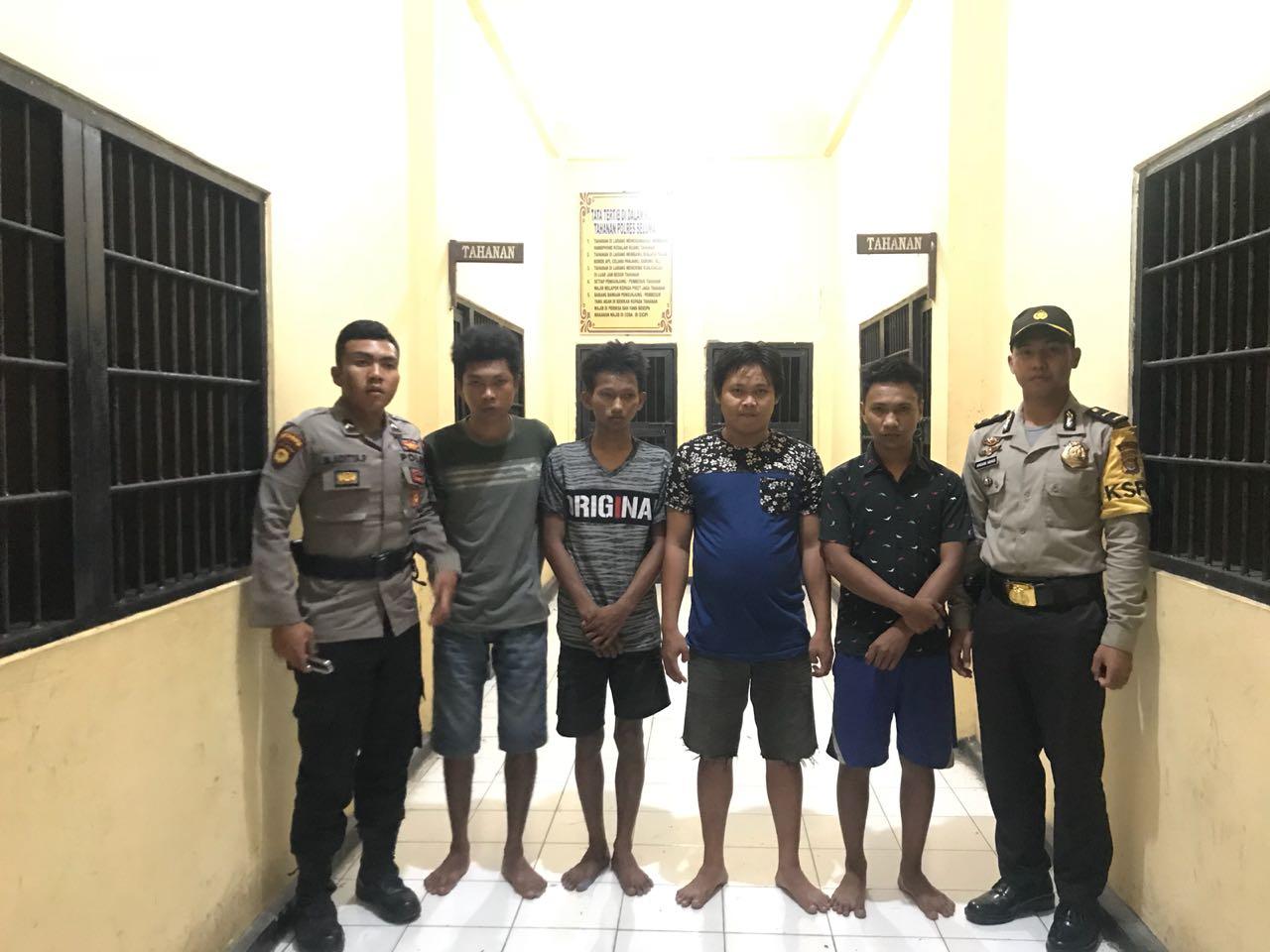 Polsek Sukaraja telah mengamankan terduga para pelaku pencurian