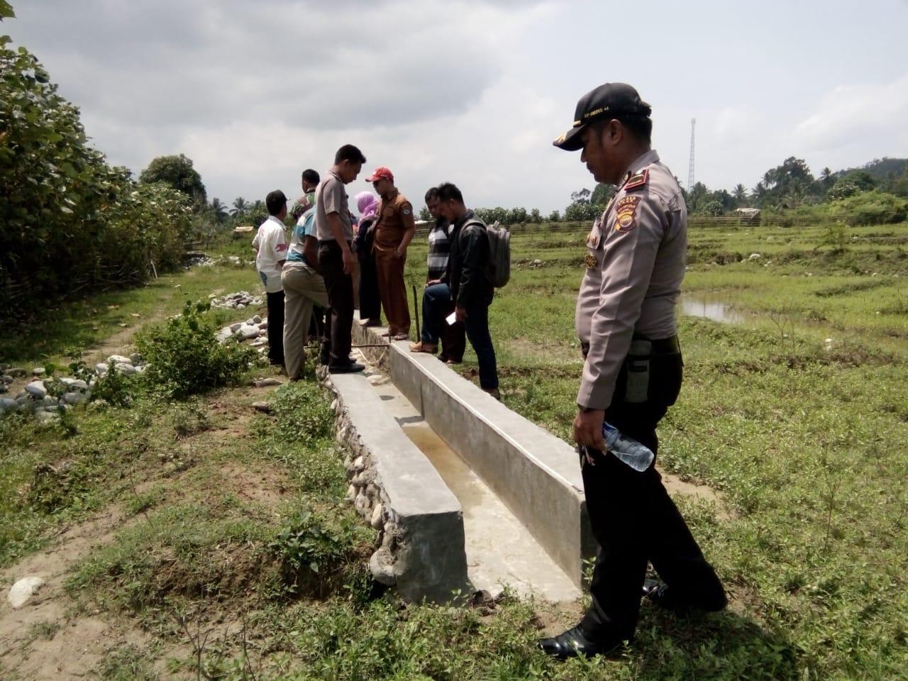 Jalankan Fungsi Pengawasan Dana Desa, Polsek Kaur Utara Ikuti Kegiatan Opname Pembangunan