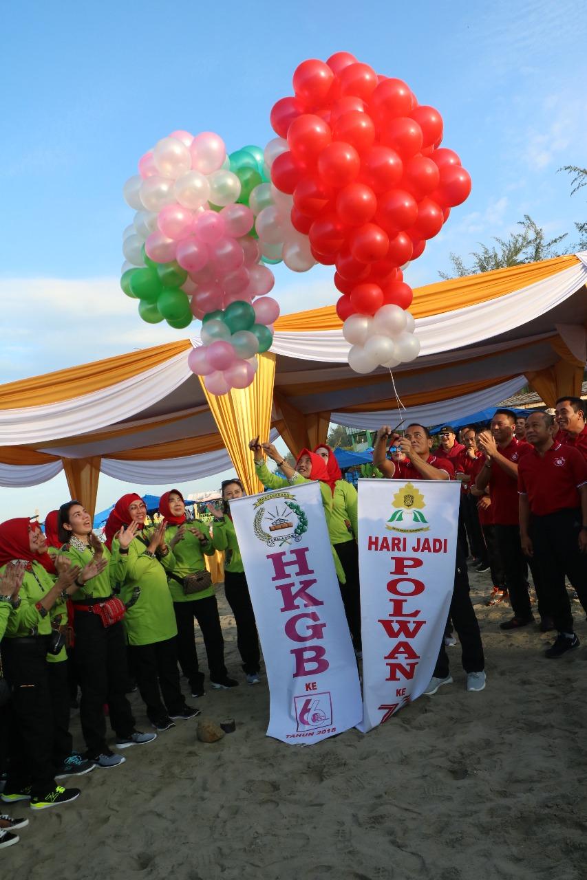 Olahraga Bersama dan GPS Meriahkan Hut Polwan Ke-70 dan HKGB Ke-66