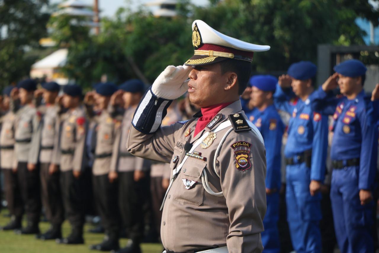 Peringati HAORNAS Ke-35, Polda Bengkulu Gelar Upacara Bendera