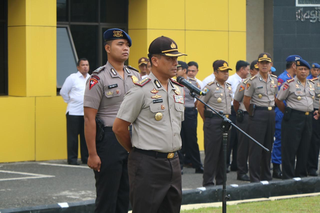 Pimpin Apel Pagi, Wakapolda Bengkulu Tegaskan Netralitas Polri