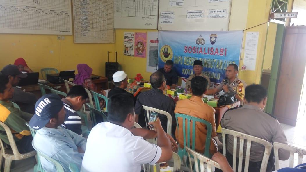 Sosialisasi Saber Pungli dan Himbauan Kamtibmas Polres Bengkulu di Kandang Limun