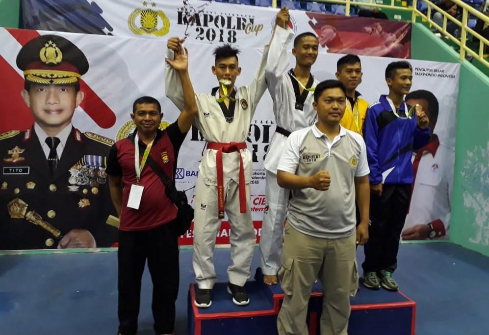 Hebat!!…Bripda Angga Menjadi Juara Taekwondo Kapolri Cup 2018
