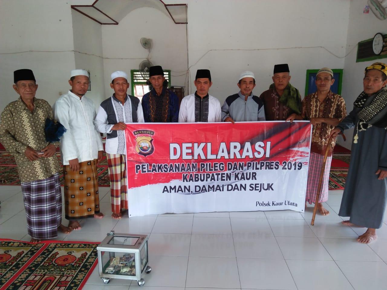 Deklarasi Pemilu Damai Wilayah Polres Kaur