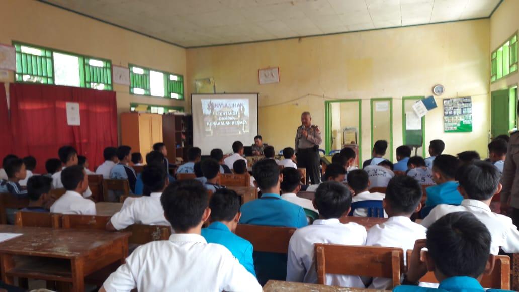 Cegah Kenakalan Remaja, Sat Binmas Polres Kepahiang Binluh di Sekolah