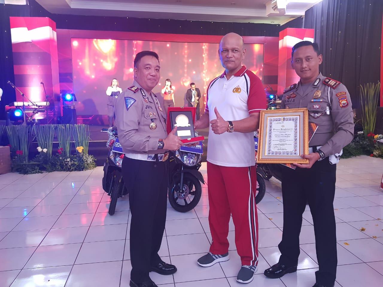 Direktorat Lalu Lintas Polda Bengkulu Sabet Juara 2 Kawasan Tertib Lalu Lintas