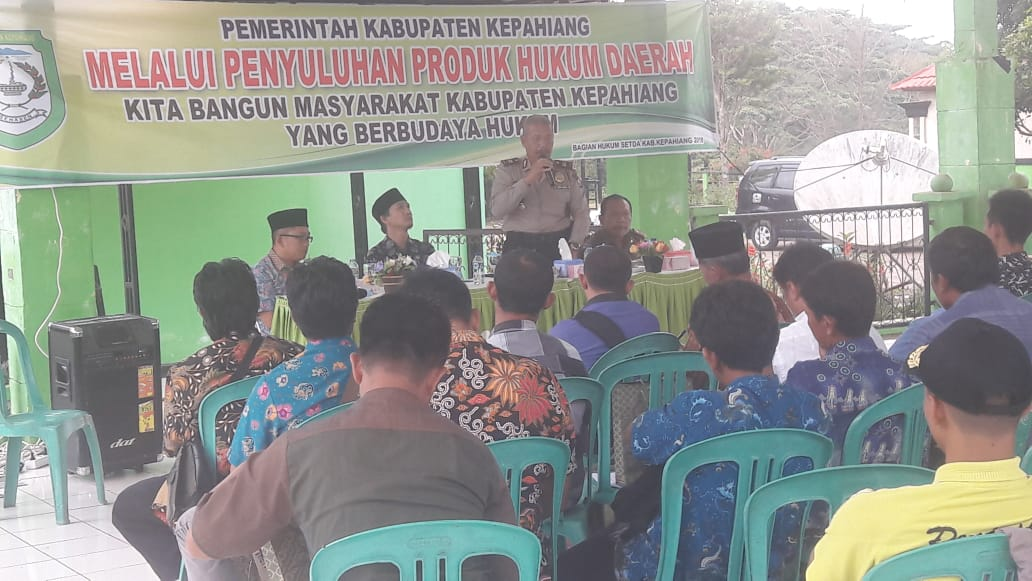 Penyuluhan Produk Hukum Daerah Pemda Kepahiang Bersama Sat Binmas Polres