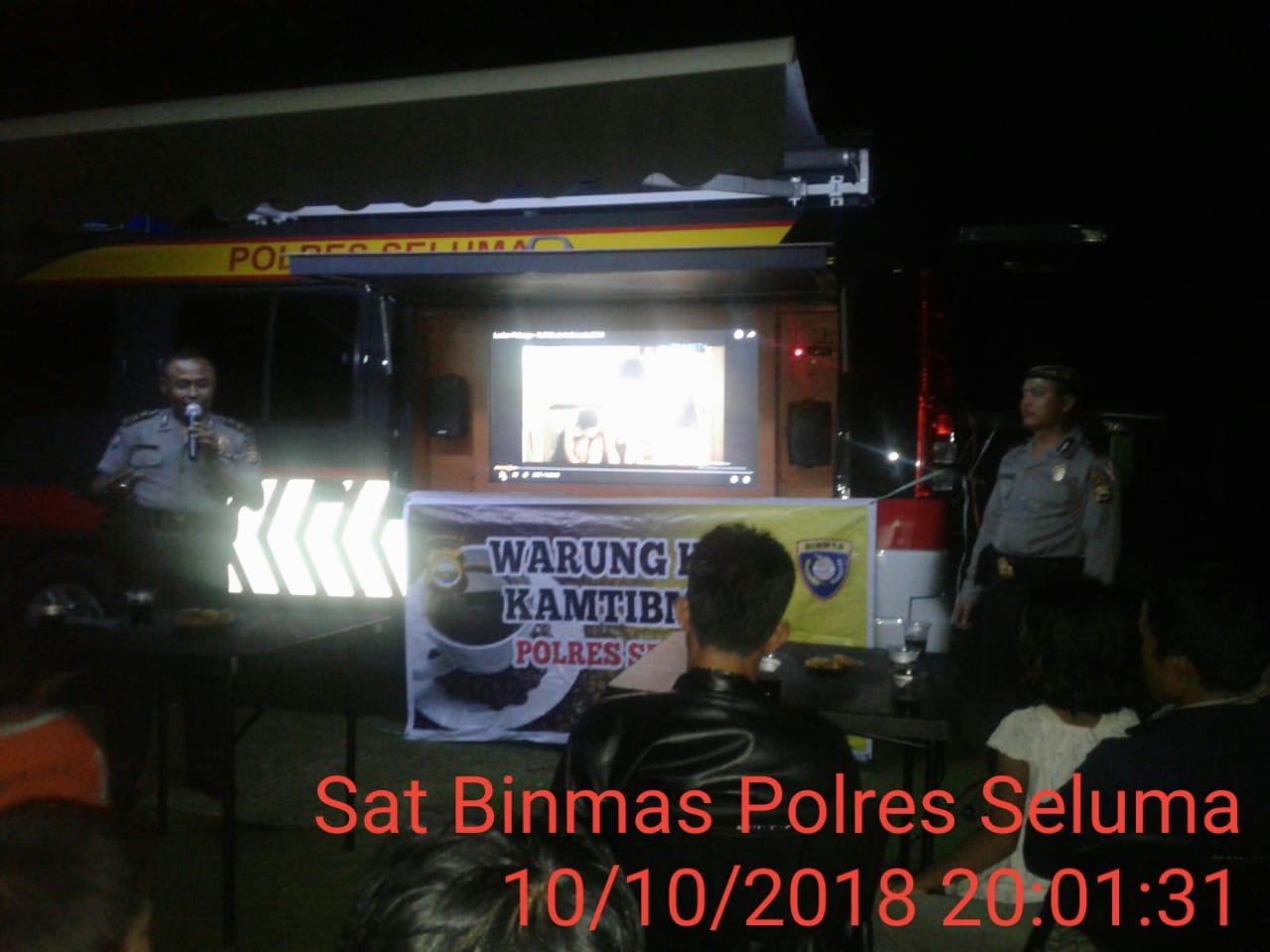 "Sambangi Kelurahan Sembayat, Polres Seluma Gelar ""Warung Kopi Kamtibmas"""