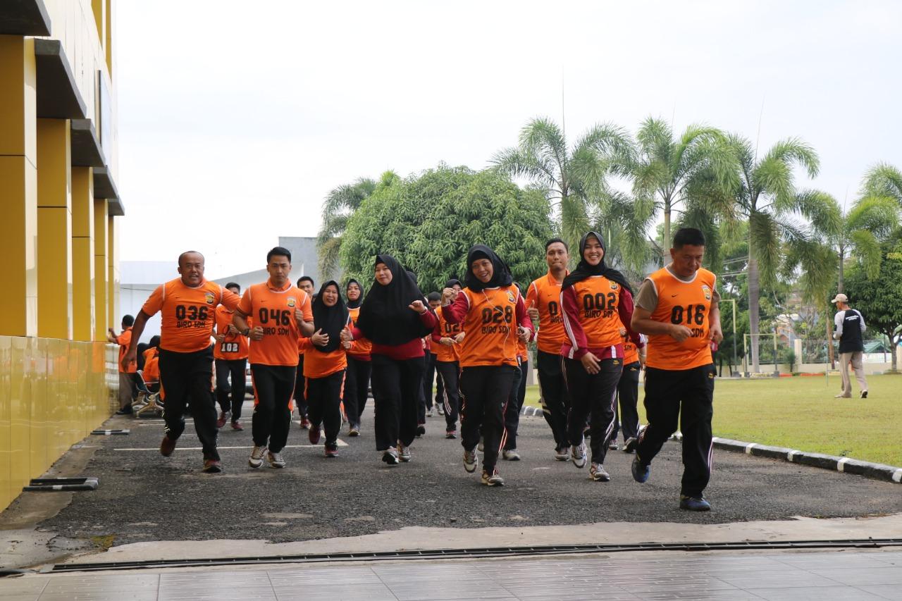 Kesjas, Sarana Polda Bengkulu Tingkatkan Kemampuan Fisik Anggota dan ASN Polri