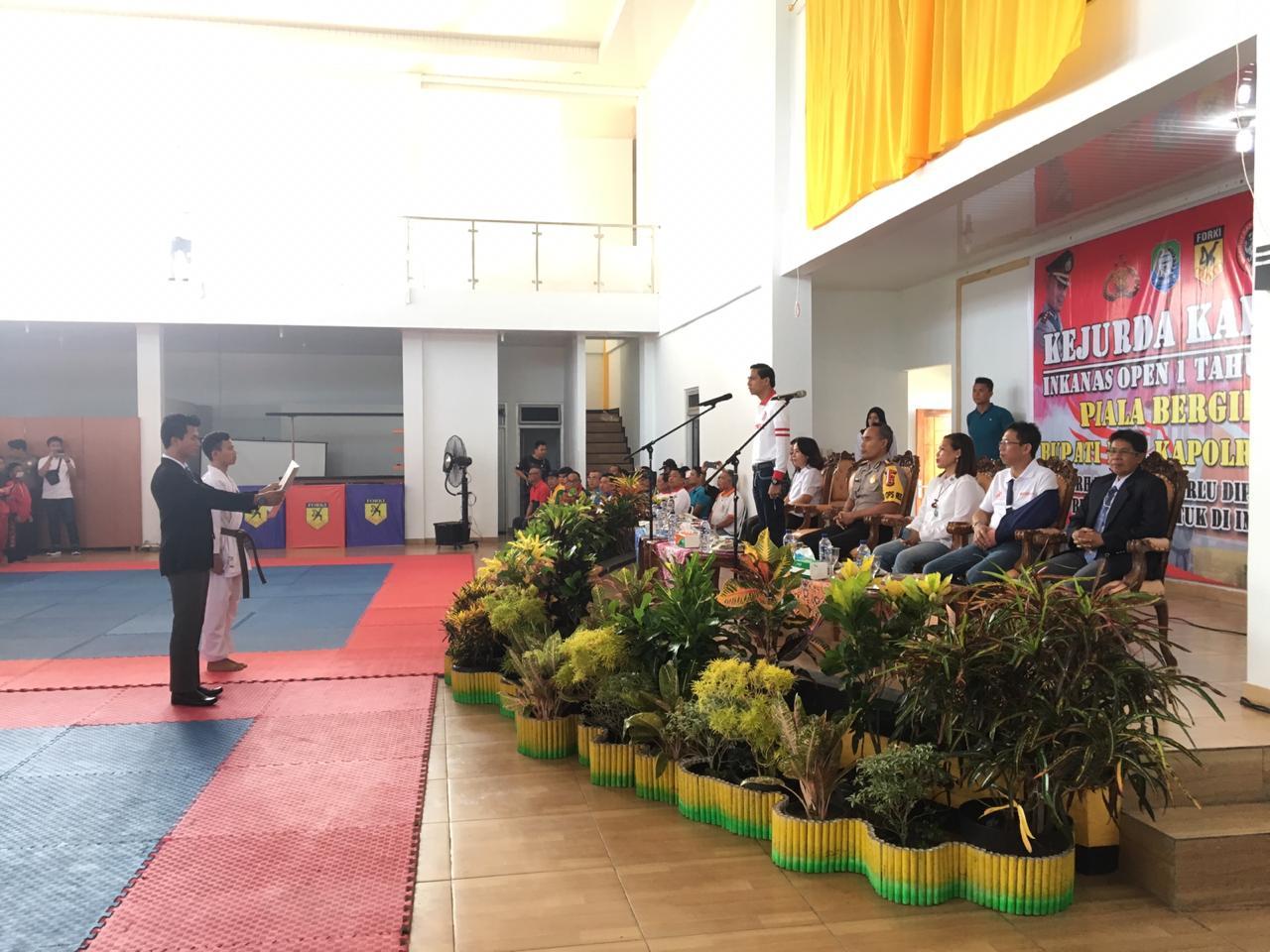 Pembukaan Kejurda Karate Inkanas di Kabupaten Kaur