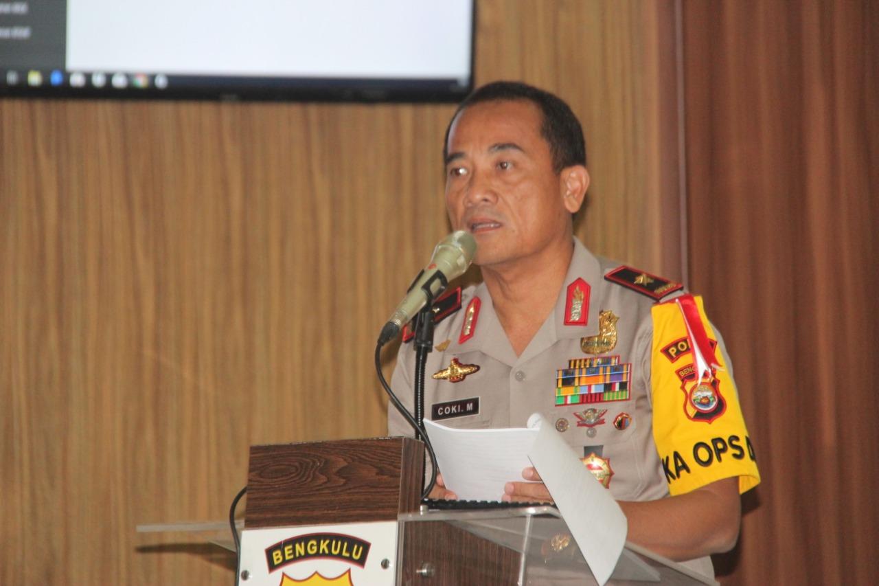 Kapolda Bengkulu Paparkan Situasi Provinsi Bengkulu Kepada Team Studi Kelayakan