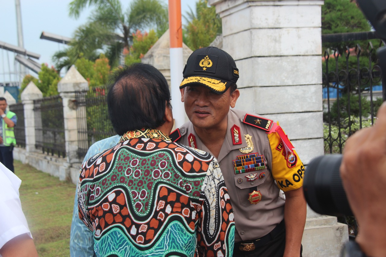 Kapolda Bengkulu Sambut Menteri ATR di Bumi Rafflesia
