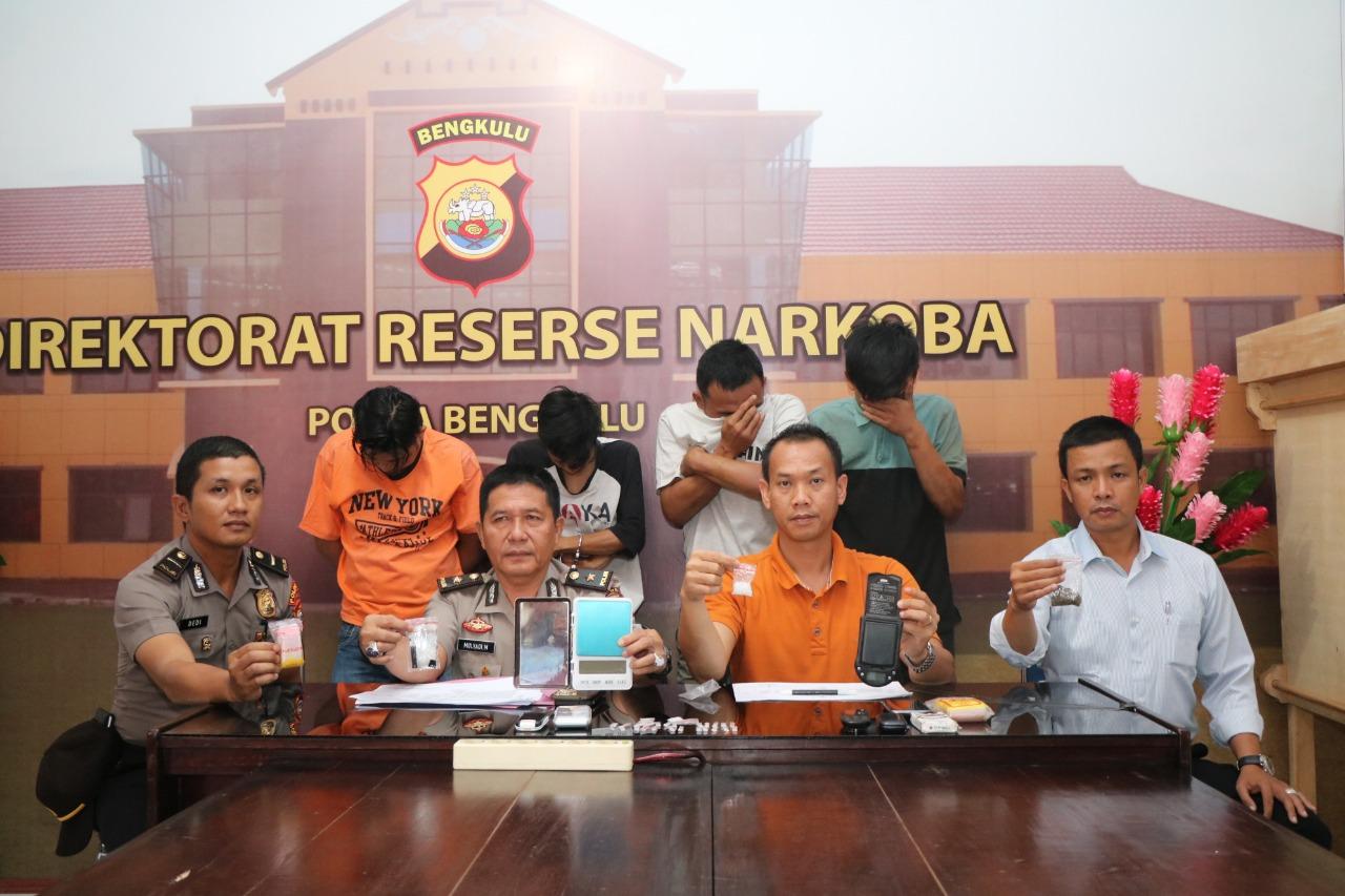 Polda Bengkulu Tangkap 4 Pelaku Penyalah Gunaan Narkotika