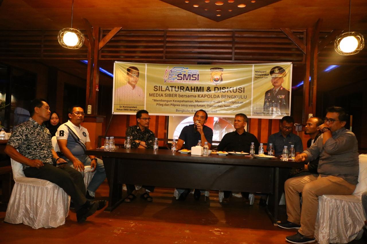Kapolda Bengkulu Gandeng Media Online Tangkal Berita Hoax