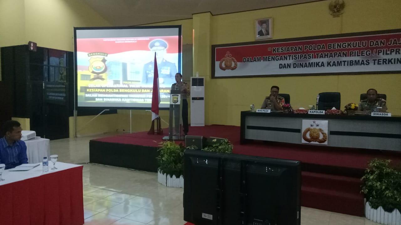 Kapolda Bengkulu Pimpin Gelar Operasional Triwulan III